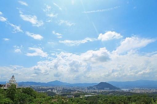 Chuncheon, Summer, Korea, Urban Landscape, Sky, Days