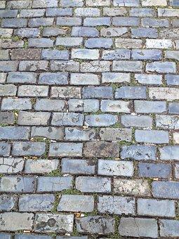 Pavement, Brick, San Juan, Puerto Rico, Stone, Sidewalk