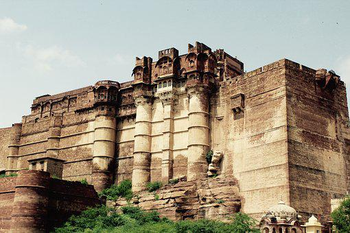 Fortress, Rajasthan, Palace, India, Heritage, Sandstone