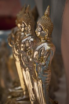 Buddha, Buddhism, Golden, Statue, Religion, Temple