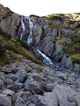 Mountains, Tatry, The High Tatras, Landscape, Waterfall