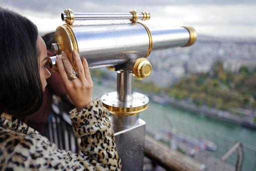 Binoculars, Person, Telescope, Woman