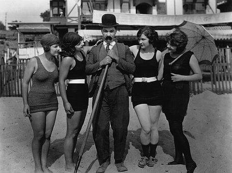 Beach, Silent Film, Mack Sennett, Bathing Beauties