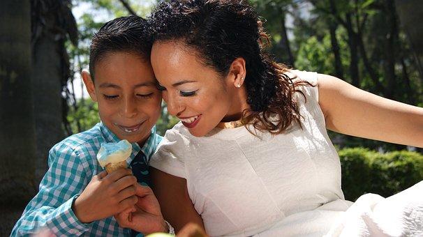Ice Cream, Sandwich, Mama, Son, Love