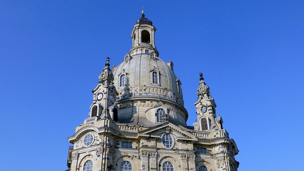 Dresden, Saxony, Frauenkirche, Tower, Building, Church