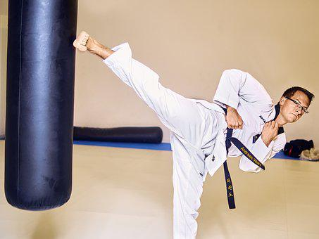 Taekwondo, Fight, Box, Kick, Leg