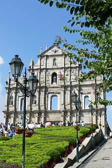 Macau, China, Church, Portugal, Colony, Building