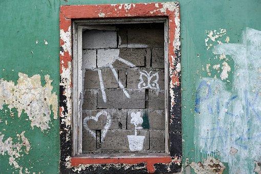 Graffiti, Painting, Wall, Ponta Delgada, Portugal