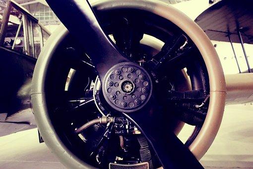 Aircraft, Airplane, Close-up, Propeller, Vehicle
