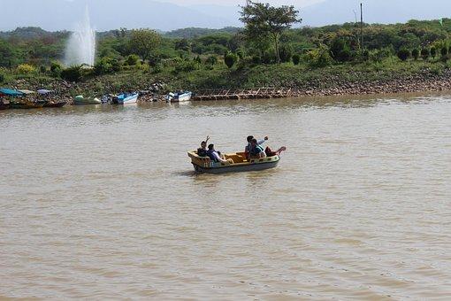 Sukhna Lake, Chandigarh, Boat, People, Boys, Water