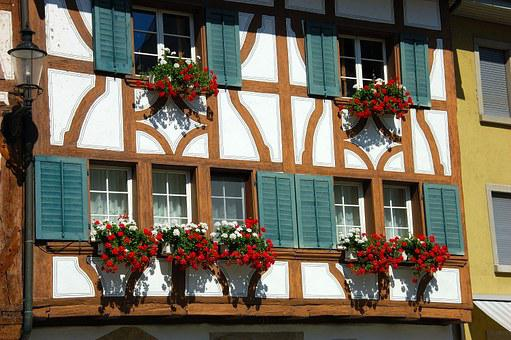 Switzerland, Bremgarten, Old Town, Summer, Tourism