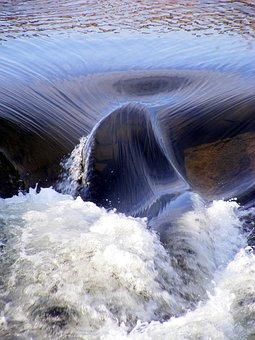 Water, Gushing, River, Stream, Foam