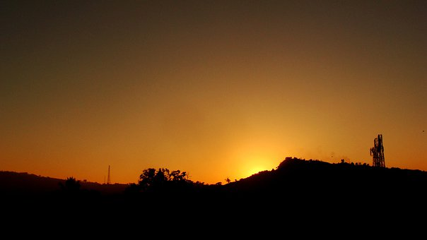 Sunset, Landscape, Hills, Bandarban, Bangladesh, Sky