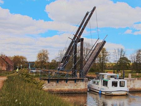 Drawbridge, Nièvre, Navigation, Channels, Marina