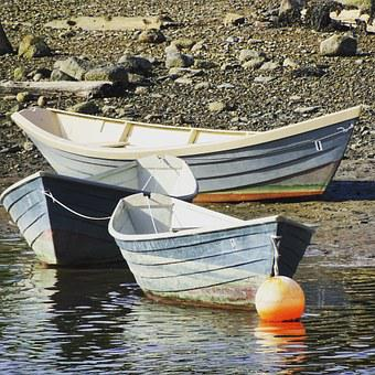 Boat, Tide, Dingy, Skiff, Fishing, Calm, Coast, Coastal
