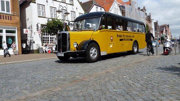 Bus, Vehicle, Husum, Old Bus, Oldtimer