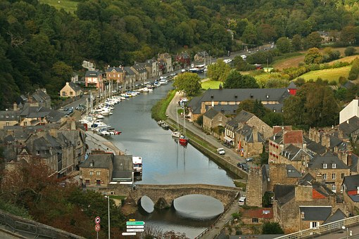 Dinan, France, Port, Brittany