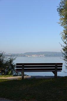 Bank, Resting Place, Lake Constance, View, Lake View