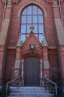 Finnish, Mikkeli, Cathedral, Wicket, Church, Door