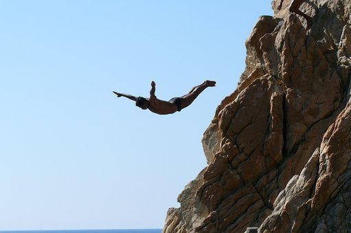 Acapulco, La Quebrada, Rock, Jumping Into Water, Water