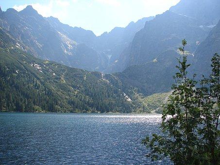 Mountain, Mountains, Top, Nature, Tatra, Poland, Lake
