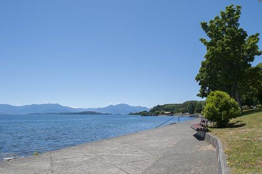 Ranco Lake, Sky, Landscape, Chile, Day