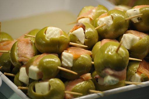 Olives, Stuffed Olives, Tapas, Pintxo, Appetizer