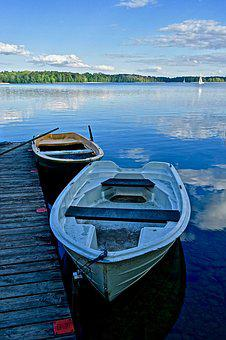 Jetty, Boats, Tranquility, Moored, Blue, Vessels