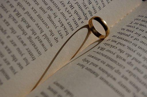 Book, Heart, Shadow, Ring, Love, Read, Bookworm