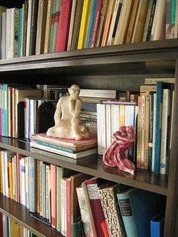 Books, Book, Bound, Library, Bookshelf, Fig, Thinker