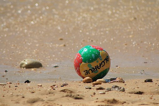 Algarve, Colored Ball, Beach Football, Beira Mar