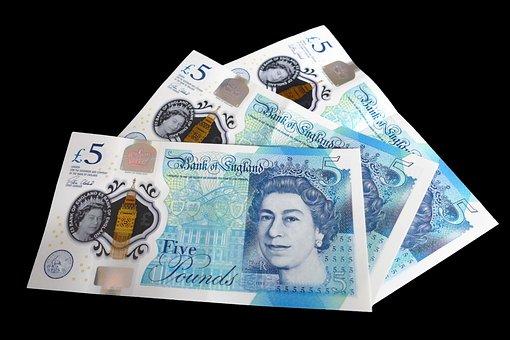 Five Pound Note, Cash, Money, Pound, British, Finance