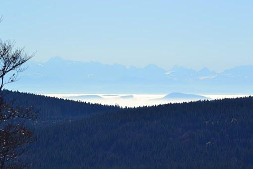 Black Forest, Freiburg, Schauinsland, View Of The Alps
