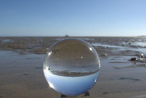 Globe Image, Wadden Sea, Mirroring, North Sea, Beach