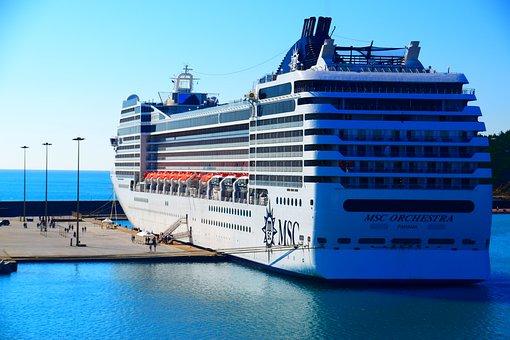 Cruise, Ship, Liner, Harbour, Quayside, Tourism