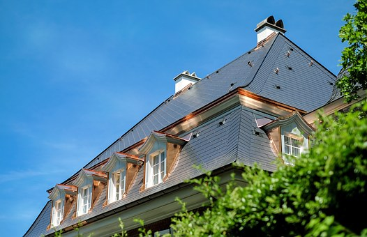 Roof, Slate Roof, Home, Giebelfenster, Copper