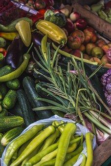 Market, Vegetables, Fruit, Paprika, Leek, Cucumbers