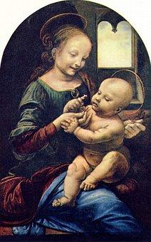 The Virgin And Child, Leonardo De Vinci