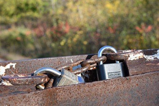 Locks, Steel, Chain, Security, Metal, Locksmith