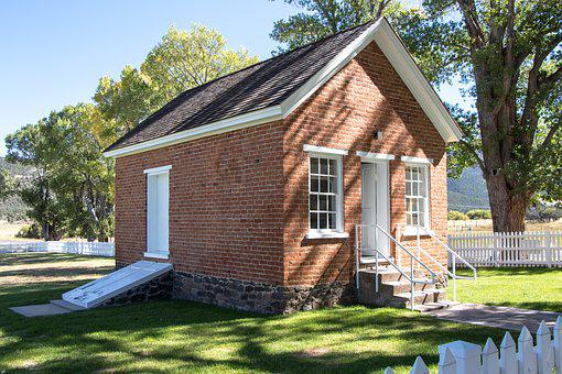 Tithing House, Old, Brick, Building, Root Cellar