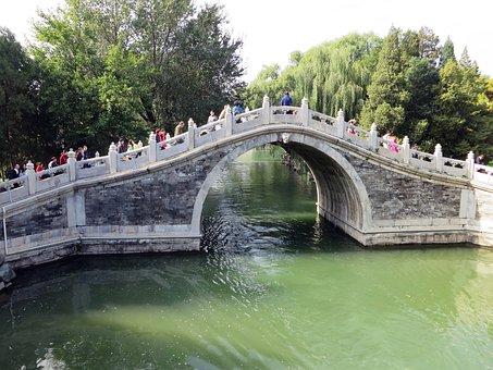 China, Beijing, Pekin, Summer Palace, Bridge, Ark, Lake