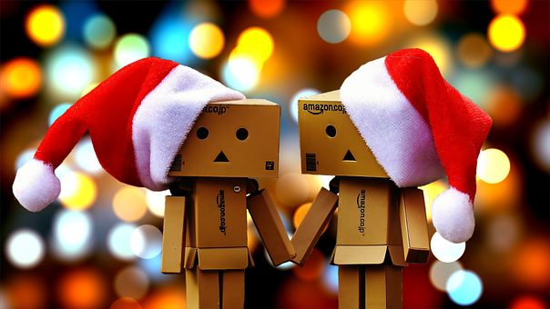 Danbo, Fig, Together, Christmas, Christmas Hats, Fun