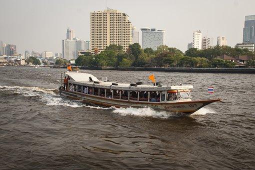 Bangkok, Thailand, River, Boat, Transport, City