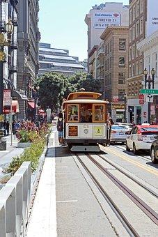 Tram, San Fransisco, Usa, City, Street