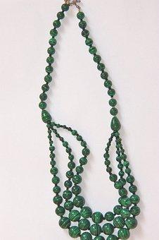 Malachite, Necklace, Gems, Jewelry, Green, Jewel