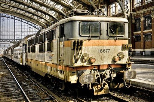 Train, Station, Wharf, Track