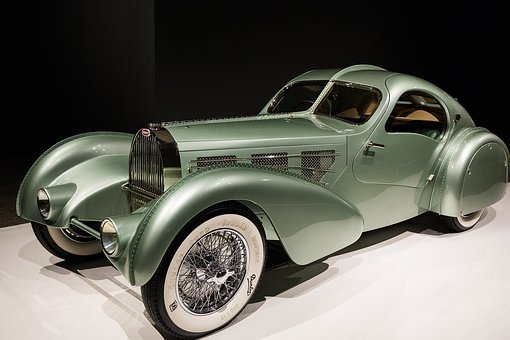 Car, 1935 Bugatti Type 57s Aerolithe, Art Deco