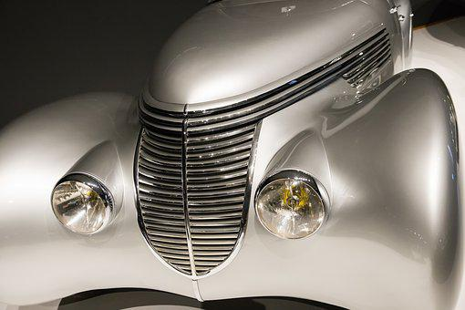 Car, 1938 Hispano-suiza H6b Xenia, Art Deco, Automobile