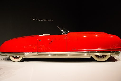 Car, 1941 Chrysler Thunderbolt, Art Deco, Automobile