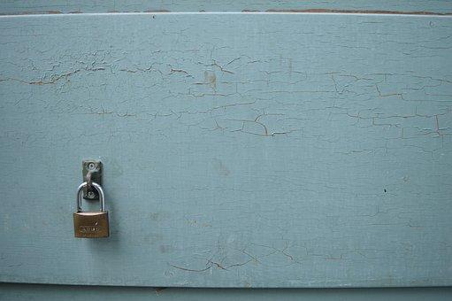 Lock, Door, Green, Paint, Texture, Entrance, Home